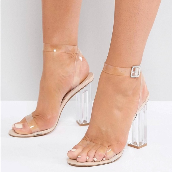 Public Desire Shoes See Through Heel Poshmark